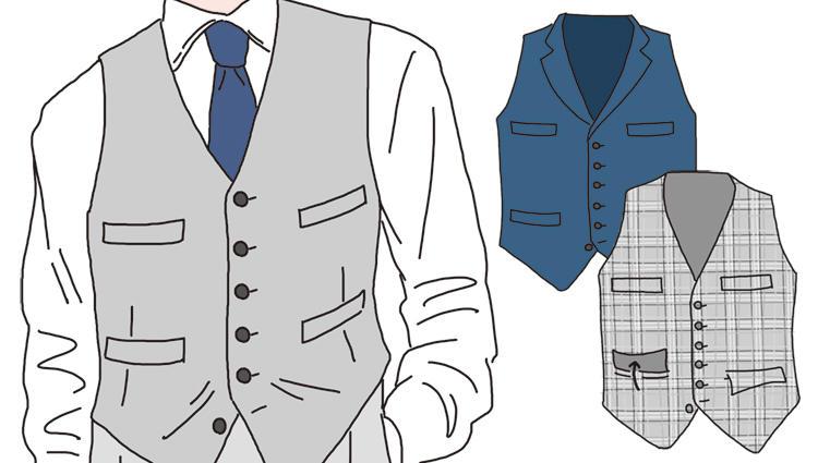 スーツの下に着る「ベスト」、襟やディテールの違いで印象はどう変わる?