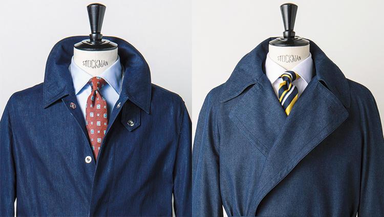 タイドアップに遊び心を演出するなら、「〇〇〇」素材のコート!
