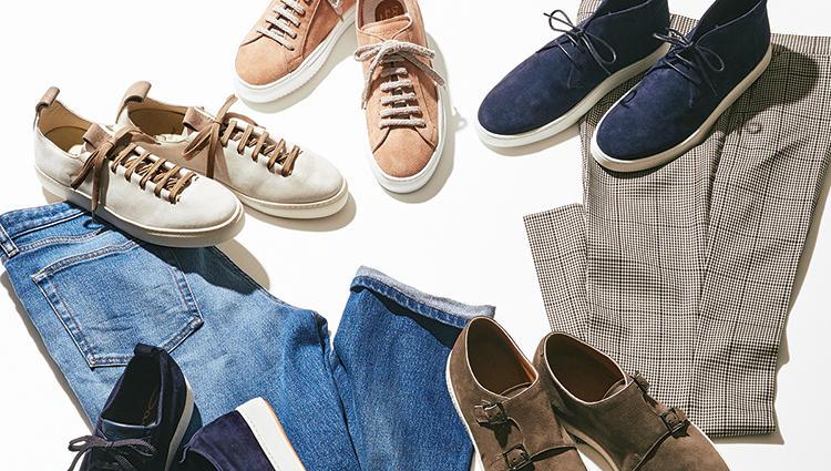休日の足元を格上げ!老舗靴ブランドの 「極上スエードスニーカー」5選