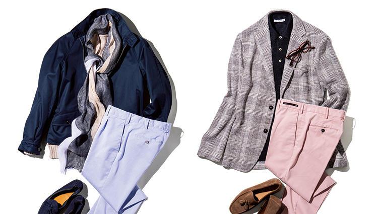 上品に寛ぎ感を出せる「休日パンツ」は、この2色!