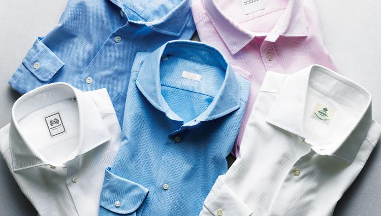 """""""よく見ればお洒落""""が心をつかむ、からみ織りのシャツ【距離1mのVゾーン】"""