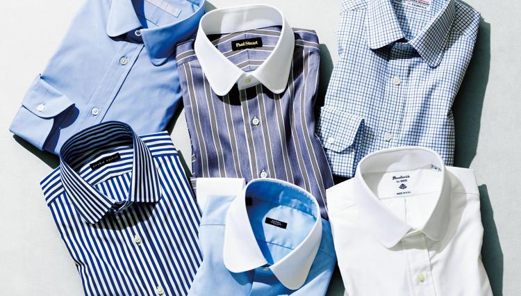 着るだけでソフトでお洒落な印象になれるラウンドカラーシャツ【距離1mのVゾーン】