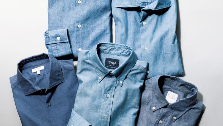 夏から秋への季節の変わり目に丁度いい素材感「シャンブレーシャツ」を一枚買い足し