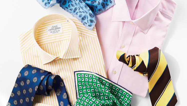 スーツの胸元で「春」を表現するなら、この3アイテム!