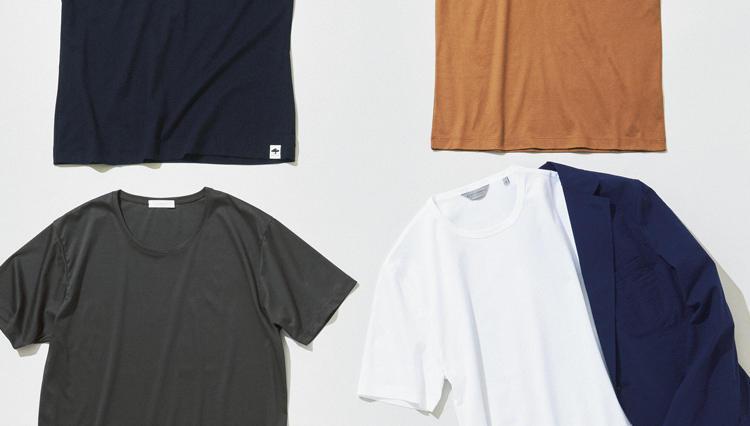 ジャケットに合う大人の上質ドレスTシャツ、増えてます。