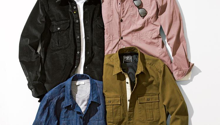 素材感で楽しむ軽快アウター。秋のシャツアウター4選