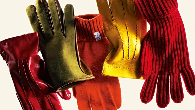 手袋は派手色を選んで「手」じゃなくて「コートのポケット」に差そう!
