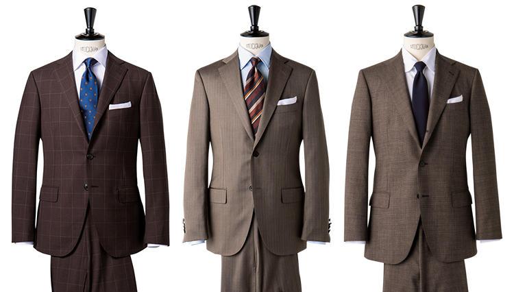 最旬ブラウンスーツ、「タイドアップ」「ノータイ」の着分け方は?