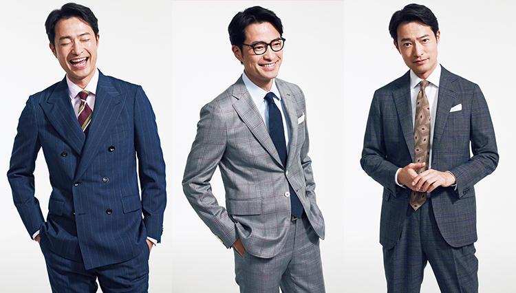 スーツで個性を出すなら、「〇×〇」にトライしよう!