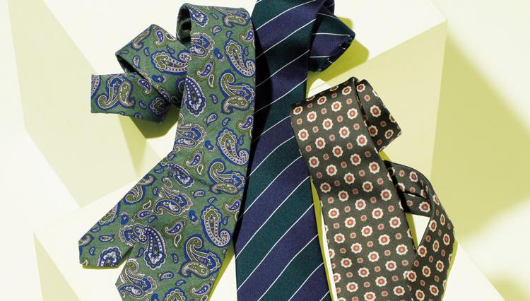 純イタリア製のネクタイで春を先取り! ブルーステラのプリントタイ【名作予報】