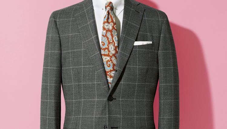 ルイジ ボレッリの3Bスーツはシャツタイが引き立つ広めのVゾーンが新鮮【名作予報】