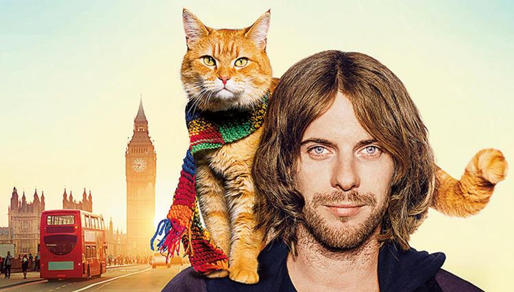 イギリスのベストセラー小説を映画化『ボブという名の猫 幸せのハイタッチ』