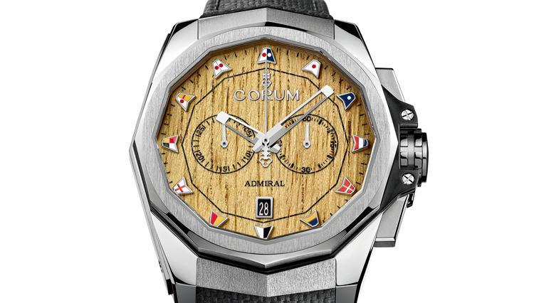 ヨットのデッキに使われる天然チークを文字盤に採用したコルムの腕時計【ひと言ニュース】