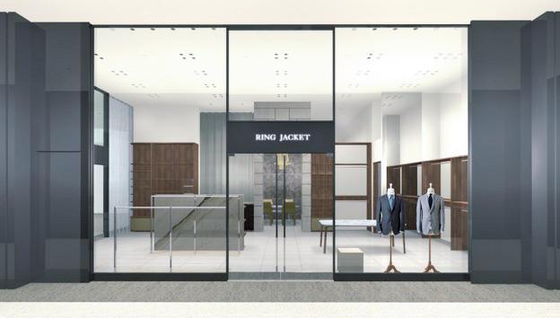 大阪・梅田に新レーベル「リングヂャケット ネイビー」の限定スーツも並ぶ新店がオープン
