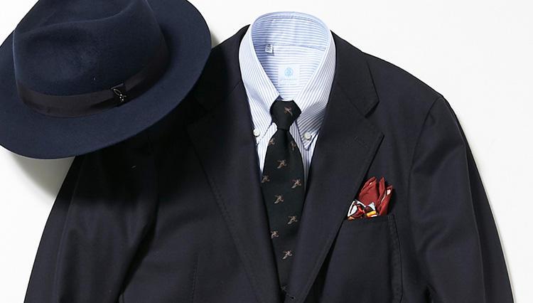 紺スーツを、上だけ紺ジャケ風に着て変化を出すコツとは?【スーツの着回し1週間チャレンジ!/イセタンメンズ編#6】