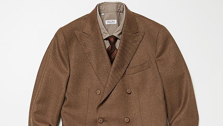 難しいベージュジャケットも、こんなシャツタイなら簡単【スーツの着回し1週間チャレンジ!/ラ ガゼッタ 1987編♯3】