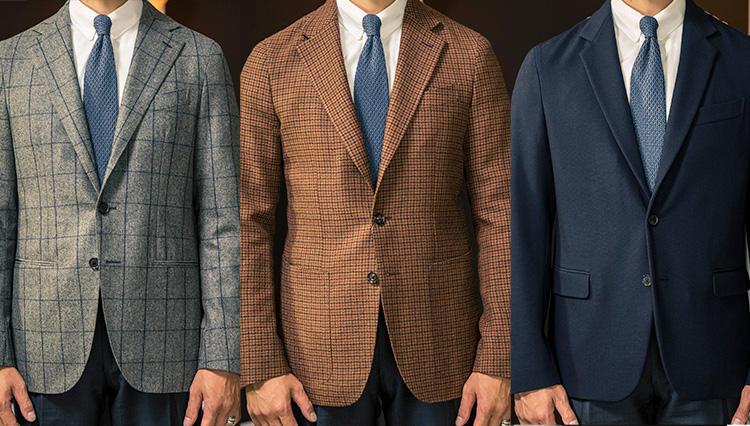 最注目スーツブランド「カルーゾ」の三大傑作、実際に着て徹底比較!