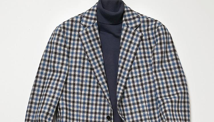 仕事から休日まで応用できる「チェックジャケットの鉄板コーデ」はコレ!【スーツの着回し1週間チャレンジ!/デザインワークス編#6】