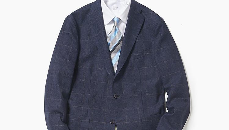 手持ちの紺スーツを、春らしいジャケパンスタイルに変えるコツ【スーツの着回し1週間チャレンジ!/エリオポール編#4】