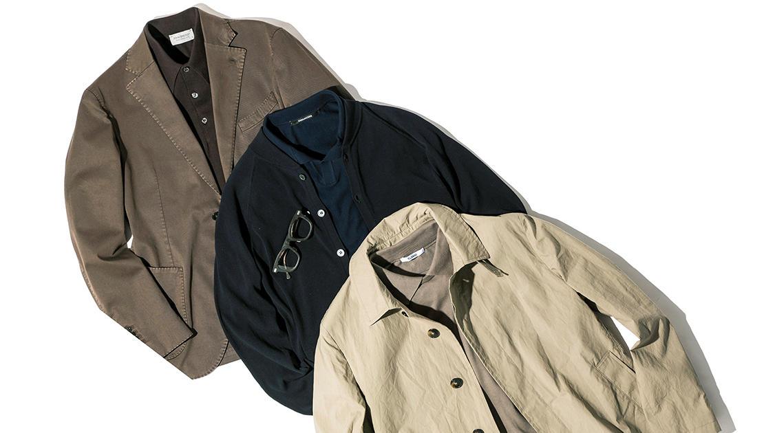 シンプルでも趣味よく見せるなら、ニットポロはワントーンで着るべし