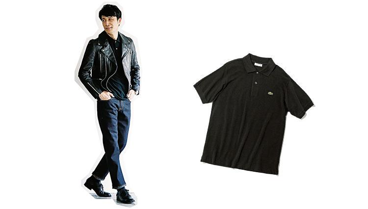 ラコステの王道ポロシャツ「L.12.12」といえば何色が正解? あえての黒でシャープな見た目に