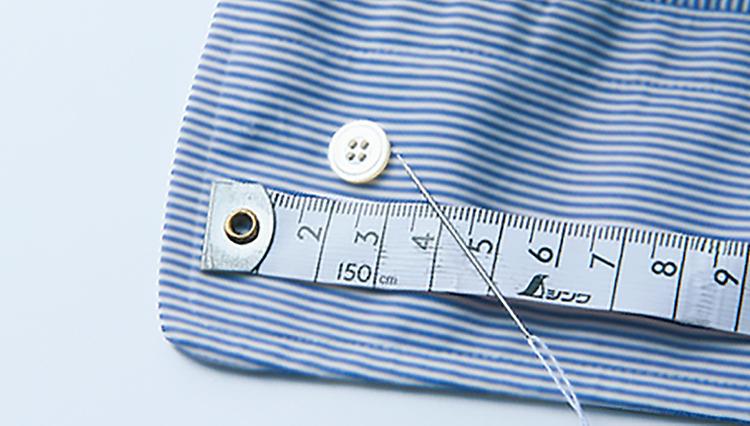 「手首がブカブカのシャツ」はボタン移動の簡単DIYでジャストサイズにお直し!