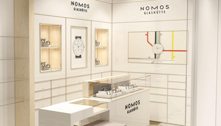 日本初ノモス グラスヒュッテ専用コーナーがWING香林坊店に誕生