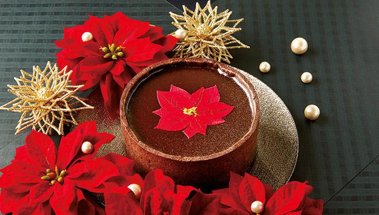 真紅のポインセチアで幸運の祈りを表現 ジョンカナヤのクリスマス限定タルト