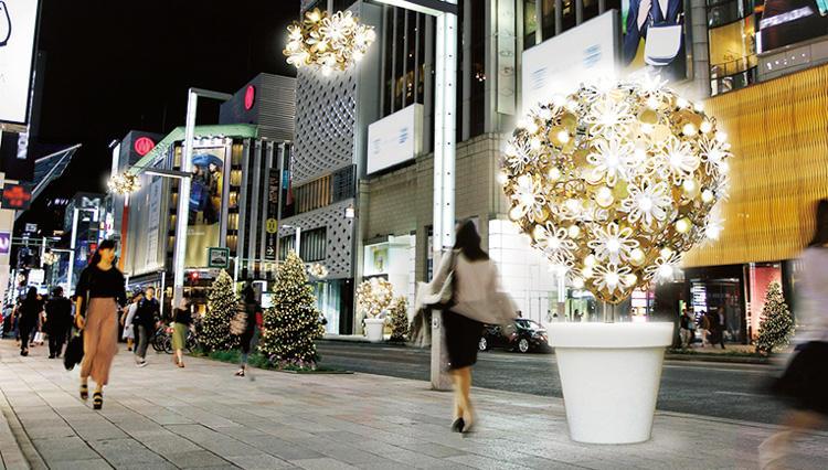 冬の風物詩ギンザ・イルミネーション「ヒカリミチ〜光の庭園〜」開催