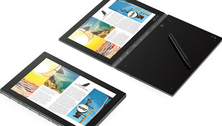 キーボードと手書きペン入力を両立した2-in-1タブレット「YOGA BOOK」