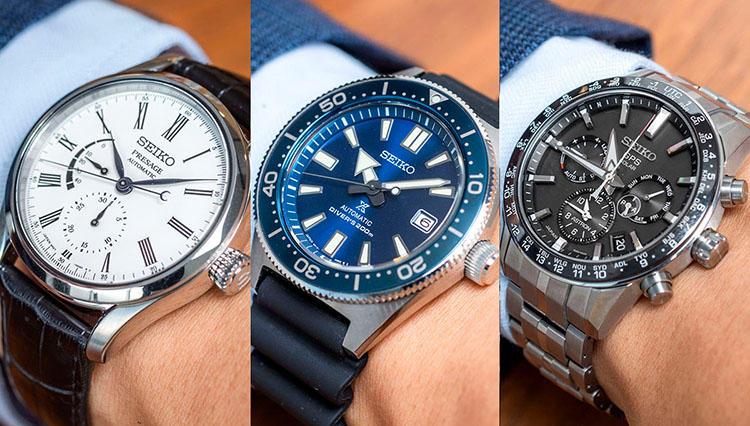SEIKOの腕時計 人気モデル10本を片っ端から腕に乗せてみた!