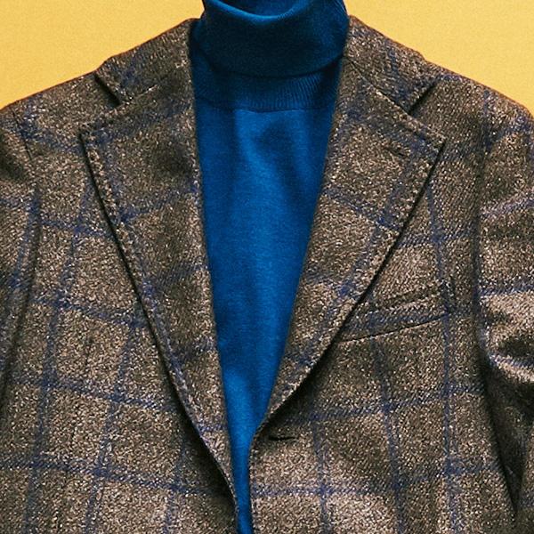 <p><strong>5位<br />休日ジャケットがセンスよく見える配色は?</strong><br />休日ジャケットを、簡単にセンスよく見せるにはどんな色を選ぶのがよいか? 秋らしく見せるなら、ジャケットはブラウントーンのものを。ここに、ブルーやネイビー系のニットを挟むと、ビジネススーツでもイタリア人が使う色の組み合わせ「アズーロ エ マローネ」(紺×茶)のコンビネーションが成立。見た瞬間に、お洒落度が高く見える鉄板の配色だ。<small>(2019年10月号掲載)</small></p>