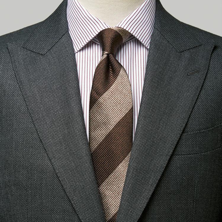 シャツもネクタイも柄モノのとき、気をつけることは?【1分で出来るスーツのお洒落】