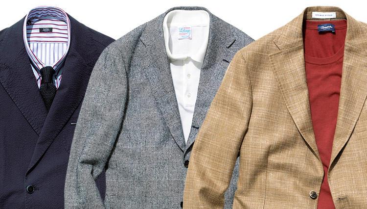 「ジャケット×薄色ジーンズ」、インナーで着分けるコーディネート実例6