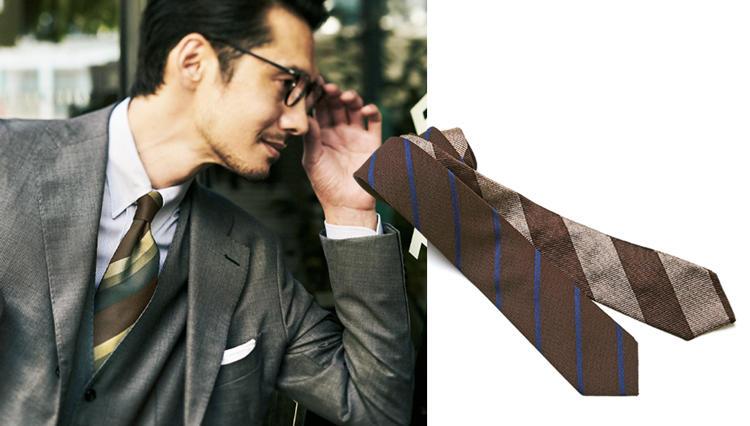 秋のスーツ、第一印象を上げるのはどんなネクタイ?
