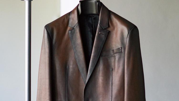 際立って印象的だったベルルッティのレザージャケット