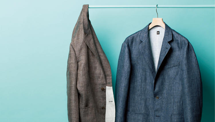 リネンのジャケットってシワくちゃに…ならないんです、デザインワークスなら!【名作予報】