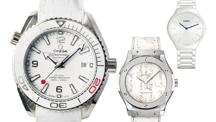 夏はやっぱり白い時計が欲しい!【オメガ/ウブロ/ラドー】