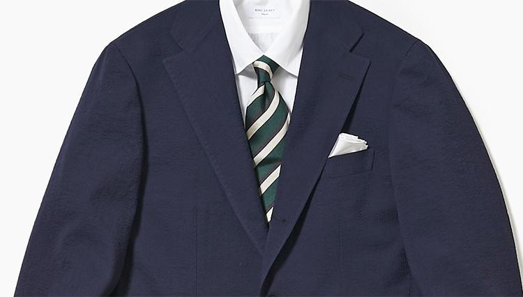 「紺ジャケ×グレーパンツ」、差のつくアップデートのコツ【スーツの着回し1週間チャレンジ!/リングヂャケット編#4】