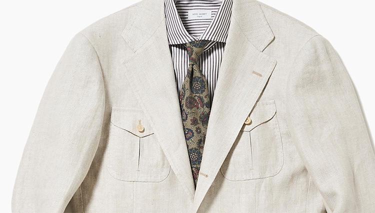 こんなサファリジャケットなら、仕事服にも応用できる!【スーツの着回し1週間チャレンジ!/リングヂャケット編#3】