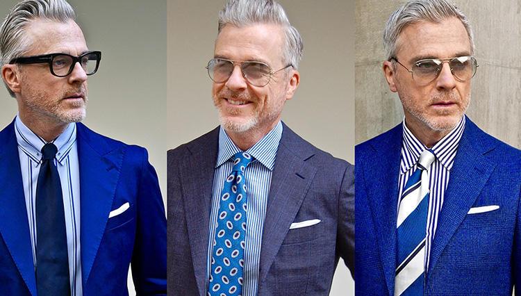 「令和時代の新・ネイビースーツ」【Mr.Davidに学ぶ胸元7の実例】
