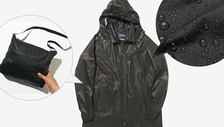 人気アウターブランドのレインコート6着、「コンパクトさ」と「撥水力」をチェックしてみた!【きちんと見える梅雨対策 #07】