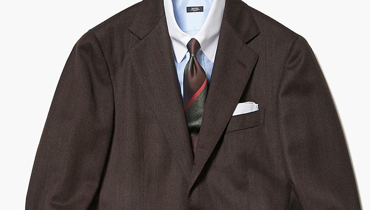 「ブラウンスーツ」を今年っぽく着こなすコツは?【スーツの着回し】