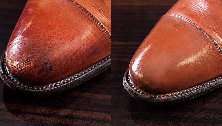 革靴についた擦り傷、自分で直せる?【究極の靴磨き】