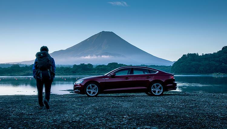 アウディの4ドアクーペ「A5 SPORTBACK」で富士山を目指す!