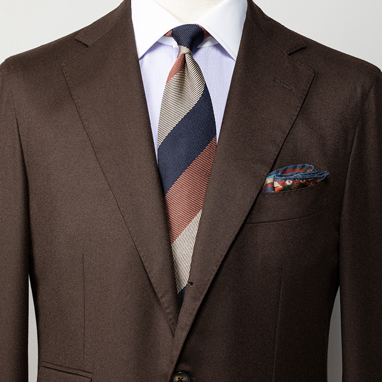 ブラウンスーツに似合うネクタイは?【1分で出来るスーツのお洒落_シップス編】