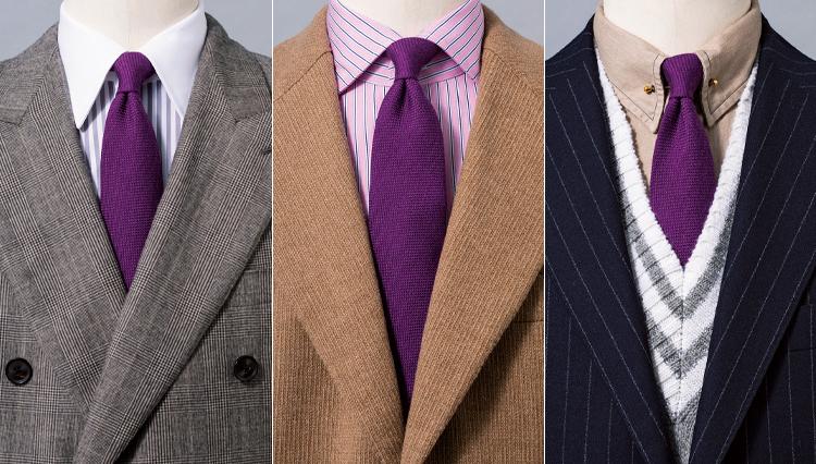 冬スーツの胸元を明るく!「カラーウールタイ」の着こなし実例集