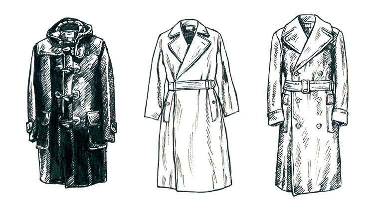 【図解】コートの「基本的分類」7種類をイラストで覚えよう