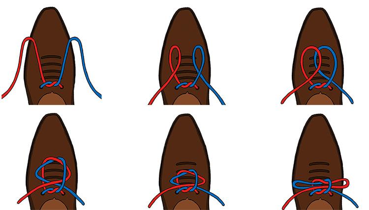 1日歩いてもほどけにくい「革靴の紐の結び方」を知っている?