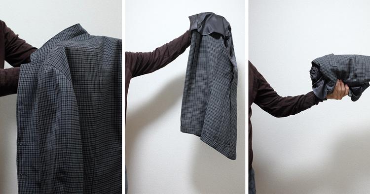 ジャケットの畳み方